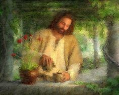I just love this amazing piece of art… I believe Jesus waters our lives every single day. His patience and tenderness is all to me..No one but the gardener knows the importance of a flower...