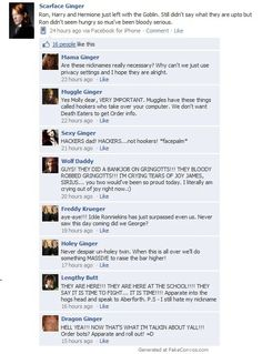 If the Weasleys used Facebook to keep in contact and make plans like they do in the Arab world.