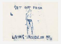 Tracey Emin. <em>Untitled</em> 2008. Monoprint, 8 7/16 x 11 5/8 inches (21.5 x 29.5 cm). Copyright © the artist. Courtesy White Cube.