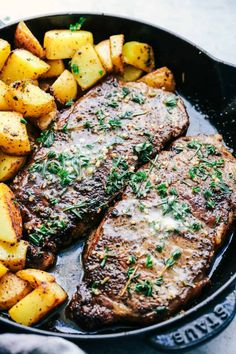 Grilled Steak Recipe With Garlic Herb Butter.Skillet Garlic Butter Herb Steak And Potatoes The Recipe . Garlic Butter Herb Steak And Mushrooms The Recipe Critic. Skillet Garlic Butter Herb Steak And Potatoes Recipe . Home and Family Skirt Steak Recipes, Easy Steak Recipes, Grilled Steak Recipes, Healthy Diet Recipes, Meat Recipes, Cooking Recipes, Cooking Tips, Simple Recipes, Deer Steak Recipes