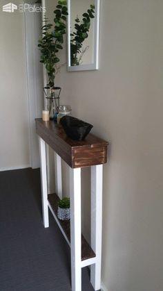 Entry Hallway Table Pallet Desks & Pallet Tables