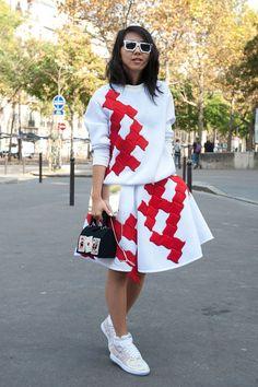 Paris Fashion Week Hairstyles 2015 – Street Style Simple Messy Hair