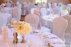 4. Roman Wedding,White Silver Centerpiece/ Rzymskie wesele,Dekoracja stołów,Anioły Przyjęć
