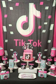 Tik Tok Birthday Party Ideas Photo 12 Of 13 Birthday Party For Teens Girls Birthday Party Themes Birthday Party Themes