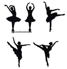 Free Silhouette Patterns | Vectorized ballerina silhouettes