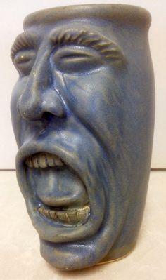 Face pot, glazed cone 6 stoneware by Dave Ducker