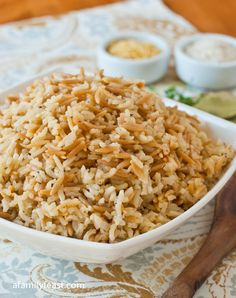 Rice Pilaf - So much better than the boxed kind - and chances are you have most of the ingredients already!