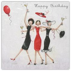 Happy Birthday Friends Berni Parker Card - £2.95 - FREE UK Delivery!