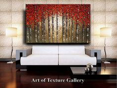 This listing is for a custom commission painting similar to the sold painting pictured. The painting will take 12 BUSINESS days to complete as it is created using many layers of oil paints. If you are interested in a different size or colors please send me an email/convo. ___________________________________________________________ Original Abstract Texture Oil Painting by Je Hlobik TITLE: Season of Reds Expanded SIZE: 60 Inches Wide, 40 Inches High, 1 5/8 Inch Deep Canvas MEDIUM...