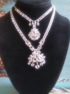 Square Art Deco Crystal Drop Blue Silver Retro Dangle Earrings 231