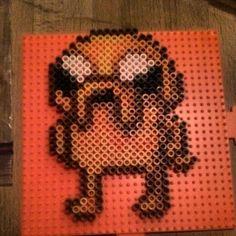 Adventure Time Jake perler beads by rainbowdrinkr