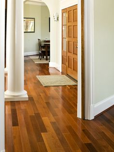 These will be our new floors!  Brazilian Cherry - 10 Stunning Hardwood Flooring Options on HGTV