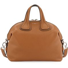 Givenchy Nightingale Small Leather Satchel Bag (4,045 CAD) ❤ liked on Polyvore featuring bags, handbags, leather satchel purse, satchel handbags, leather satchel handbags, brown handbags and brown leather satchel