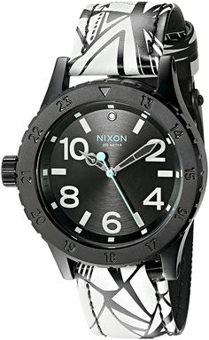 Nixon Women's A4672218-00 38-20 Leather Analog Display Japanese Quartz Multi-Color Watch -- Click on the image for additional details.