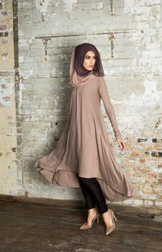 Hijab Fashion 2016/2017: Mulberry Midi Sunset Pink | Aab