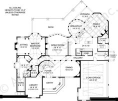 images about Home Plans on Pinterest   Square feet  Floor    Pontarion II House Plan First Floor
