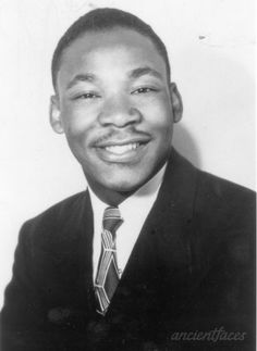 19 year old Martin Luther King Jr. taken in 1948 after he completed his undergraduate work at Morehouse College and went to attend the Crozer Theological Seminary near Chester, Pennsylvania. http://www.ancientfaces.com/photo/martin-luther-king-seminary-1948/416515