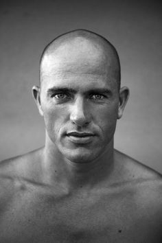 Kelly Slater by Greg Nagel Kelly Slater Surfer, Bald Men Style, Magazine Cover Design, Magazine Covers, Hang Ten, Surfs Up, Big Love, Portrait Photography, Handsome