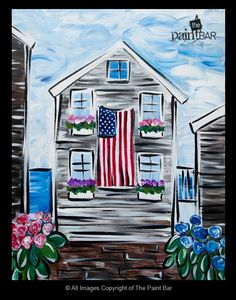 Little Ptwon House Painting - Jackie Schon, The Paint Bar