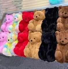 Bear Slippers, Cute Slippers, Crocs Fashion, Fluffy Shoes, Hype Shoes, Flip Flop Shoes, Cute Bears, Dream Shoes, Plush