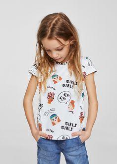 T-shirt - Dziewczynka | MANGO Kids Polska