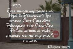 This is basically true, but there is a little bit of a longer story too it. Disneyland gets free Coca Cola.