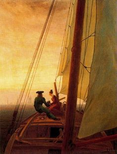 Caspar David Friedrich, A Bordo de un velero