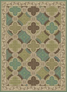 Universal Rugs 1006 Capri Transitional Area Rug, 2 by 3-Feet, Beige