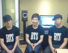 Predebut J-Hope Suga and Rap Monster looks like he want to beat someone up