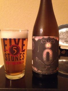Zero Anniversary, Saison Style Ale, 5 Stones Craft Brewery, Cibolo Texas... Incredibly Tasty Brew!