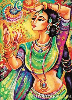 giclee: Indian classical dance art Indian decor by EvitaWorks Indian Women Painting, Indian Art Paintings, Indian Artist, Indian Artwork, Abstract Paintings, Indian Classical Dance, Bollywood, Dance Paintings, Oil Paintings