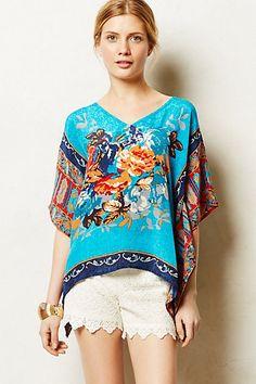 This silk poncho looks SO cute on!!!