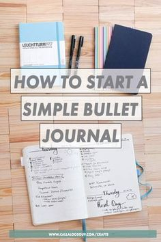 How to start a simple bullet journal without becoming overwhelmed. If you want to start bullet journaling, but get confused or overwhelmed when you search for ideas on Pinterest, start here instead! Ill take you through all the steps to start a simple bullet journal