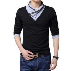 Casual skate de manga larga t shirt men aptitud camiseta homme M 3XL 4XL 5XL mens t shirts moda 2015 camisetas hombres camisetas en Camisetas de Moda y Complementos Hombre en AliExpress.com   Alibaba Group