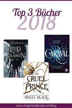 Ich stelle dir meine Top 3 Bücher vor, die ich 2018 gelesen habe.  #Buch #Bücher #lesen #caraval #dasliedderkrähen #thecruelprince #elfenkrone New York Times, Calm, Cover, Tops, Artwork, Reading Books, Hobbies, Book, Work Of Art