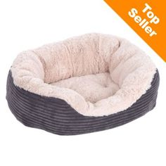 Rosewood 4302 Jumbo Cord Plush Large Size Dog Bed - Grey for sale online Plush Dog Bed, Bed Images, Old Towels, Nocturnal Animals, D 40, Grey Bedding, How To Make Bed, Cat Toys, Dog Cat