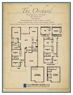 Home orchard plans