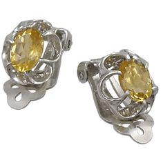 Stud Earrings - Nepalese jewel with Citrine Quartz