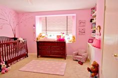 The sweetest #pink and #brown #nursery