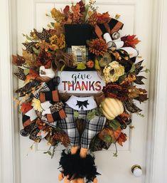 Door Wreaths, Front Door Wreaths, Wreaths for Door by SouthernSwansFlorals Thanksgiving Wreaths, Easter Wreaths, Fall Wreaths, Thanksgiving Decorations, Turkey Decorations, Pink Wreath, White Wreath, Wreaths For Front Door, Door Wreaths