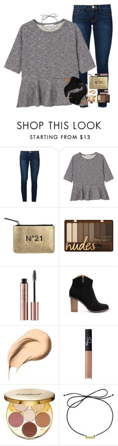 """""""happy new year &&& what I got for christmas in d"""" by mehanahan ❤ liked on Polyvore featuring Frame, MANGO, N°21, Bobbi Brown Cosmetics, NARS Cosmetics, tarte and Laundry by Shelli Segal"""