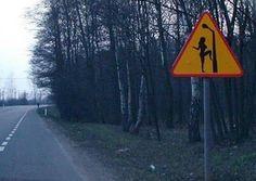 Beware of the street lamp...