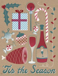 Downtime Collective Holiday Cards by Nick Matej, via Behance