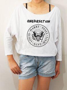 One Direction Shirts Pop Rock Shirts 1D Shirts Bat by fitandfool, $20.00