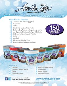 Whey Protein Ice Cream - 150 Calories PER PINT! It's AMAZING!!! The Chocolate Peanut Butter is my favorite.