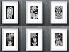 A mostra com ilustrações demoníacas fica na Casa do Cachorro Preto de 9 a 31 de maio, sempre de quinta a domingo.