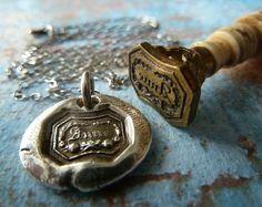 Anne of Green Gables Wax Seal Necklace Fine by RenataandJonathan, $55.00 #jewelry