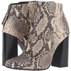 Shellys London Florrie (Snake) Women's Boots (€120) ❤ liked on Polyvore featuring shoes, boots, ankle boots, faux suede boots, square toe boots, short boots, chunky high heel boots and high heel boots