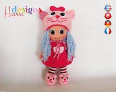 Benvenuti ◆❤ Havva disegni modelli Store ❤◆  ❥ Questo elenco è per un modello di amigurumi, non il giocattolo finito. ❥ Crochet pattern in formato