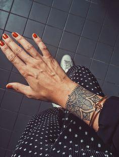 My new cover up tattoo ? - My new cover up tattoo ? Small Wrist Tattoos, Forearm Tattoos, Body Art Tattoos, Hand Tattoos, Sleeve Tattoos, Tatoos, Cuff Tattoo, Tattoo Bracelet, Piercing Tattoo